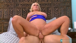 Real fucking between blonde haired Georgette Parks in park