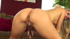 Czech blonde playing with sex toys HD