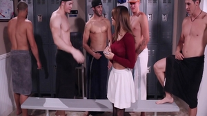 First time group sex between Sara Luvv