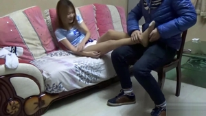 Feet fetish together with asian girl in socks HD