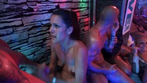Eliss Fire together with Tiffany Doll fingering at the party
