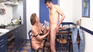 The best sex in company with hairy deutsch granny