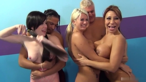 Rough slamming hard along with Ava Devine and Jennifer White
