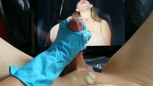 Busty ejaculation solo