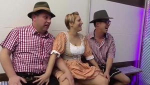 Shaved german extreme group sex