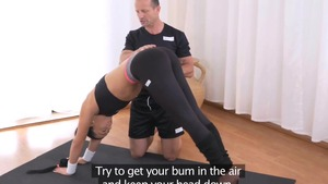 Couple Ana Rose fitness at the gym