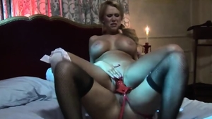 Carly Parker in lingerie toys in HD