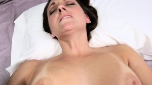 Real sex in company with huge tits brunette Melanie Hicks