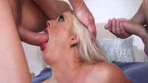 Busty wife Holly Heart goes for gangbang