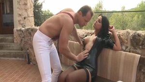 Real sex in the company of large tits latina slut Angel Rivas