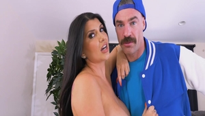 Super juicy brunette Romi Rain hardcore cock sucking