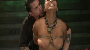 Fetish BDSM in company with exotic babe brunette Adrianna Luna