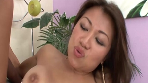Ramming hard along with busty asian babe Jackie Lin