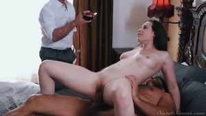 Raw good fuck in company with busty stepmom Casey Calvert