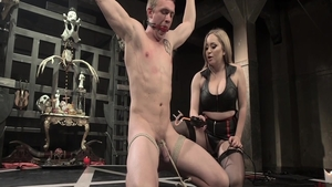 Aiden Starr in sexy stockings rough fingering