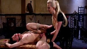 Strapon accompanied by super hot mistress Cherry Torn