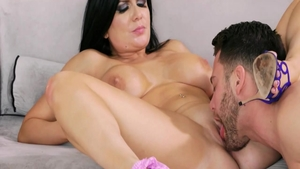 Brunette Romi Rain fucked in the ass