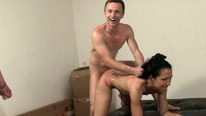 Hard ramming with very small tits arab whore