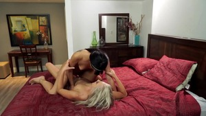Blonde hair Gina Valentina fingering