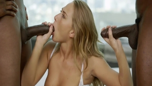 Very sexy & young babe Carter Cruise raw sucking dick