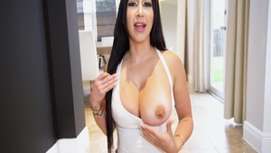 Real sex in company with huge tits pornstar Valerie Kay