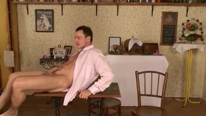 Passionate couple fucked hard in the restaurant