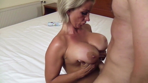 Blonde hair Candy Samira gets a buzz out of titty fucking HD