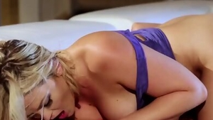 Super sexy brunette bends over in HD