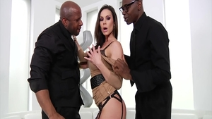 Hard nailed rough with Kendra Lust alongside Prince Yahshua