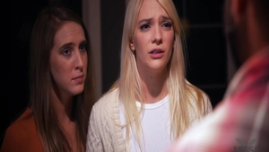 Young Cadence Lux and Kenna James roleplay sex scene