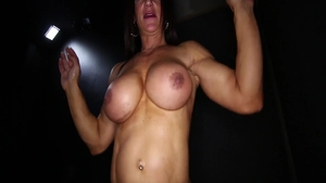 Sucking dick in company with huge boobs MILF