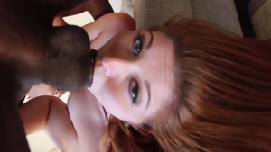 Hardcore blowjob next to super hot babe Rose Red
