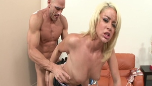 Large boobs pornstar in a suit fucked by Johnny Sins