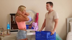 Perfect teen Candice Dare in shorts 69 blowjob