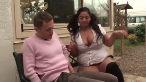 Fucked anal outdoors busty french