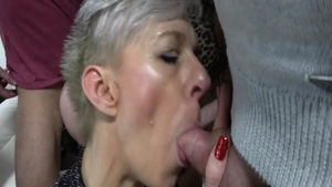 Young swinger gangbang in club