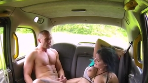 Big boobs naughty driver Alexxa Vice raw cumshot outdoors