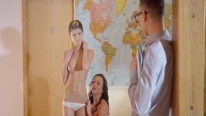 Young Gina Gerson and Niki Sweet threesome XXX