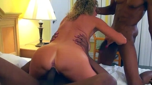 Hard pounding together with booty blonde