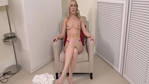 Charming supermodel pussy fucking solo