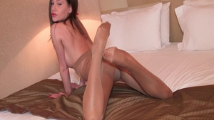 Petite babe has a thing for raw sex in pantyhose