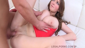 Rough group sex in company with Busty Buffy