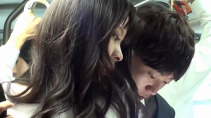 Beautiful asian ramming hard in public