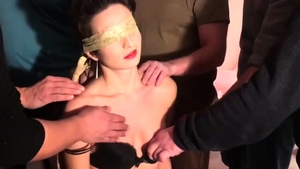 Brunette really likes receiving facial cum loads in HD