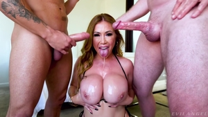 Hard sex together with large tits mature
