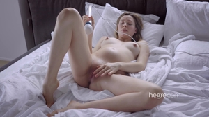 Shaved brunette sex toys HD