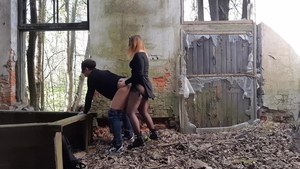 Pegging escorted by sexy russian blonde