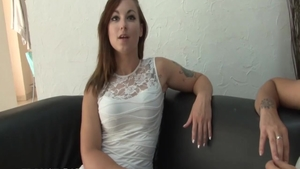 Charming french chick wishes for romantic hard nailining HD