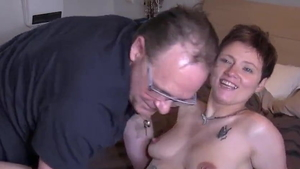 Young french brunette doggy fuck