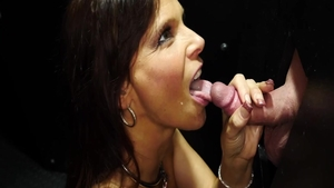 Swallow along with charming chick Syren De Mer